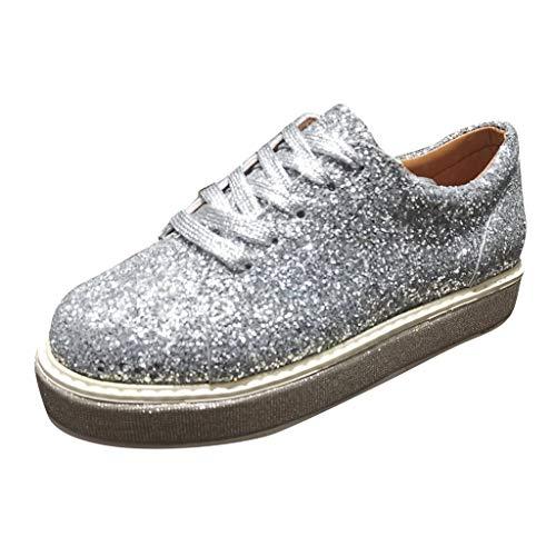 TUDUZ Zapatos De Moda Zapatos Planos Mujer Zapatillas Antideslizantes Zapatos Individuales con Brillo...