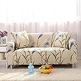 FORCHEER Sofabezug Elastischer Sesselbezüge Blumen-Muster Chair Cover Stretch Hussen für Sofa/Couch in Verschiedenen Größen ( 1-Sitzer, 90-140cm, Muster #23 )