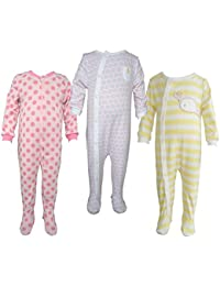 Teddy's Choice 100% Cotton Multi color 3 Combo Kid's Romper for 0-3 Months :Modle-04