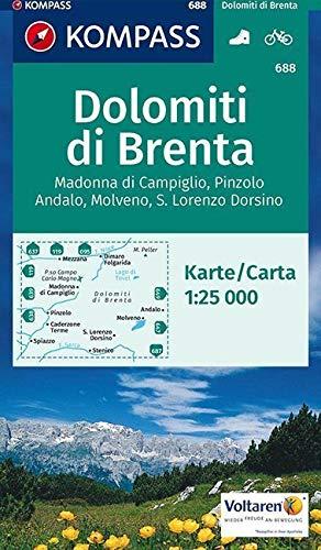 Carta escursionistica n. 688. Gruppo di Brenta, Madonna di Campiglio 1:25.000: Wandelkaart 1:25 000