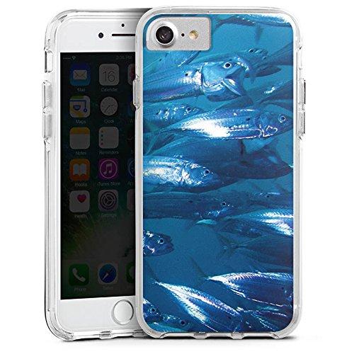 Apple iPhone 6s Bumper Hülle Bumper Case Glitzer Hülle Fisch Fische Fischschwarm Bumper Case transparent