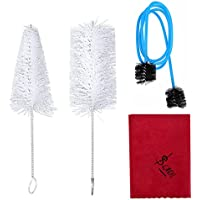Kit de Limpieza de Trompeta, Boquilla de Trompeta Cepillo de Válvula Cepillo Flexible Paño de Limpieza Juego de Herramientas