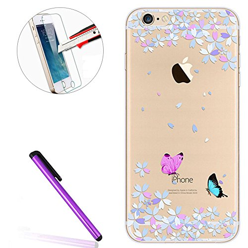 iPhone SE Hülle Silikon,iPhone SE Hülle Transparent,iPhone SE Hülle Glitzer,iPhone 5S Clear TPU Case Hülle Klare Ultradünne Silikon Gel Schutzhülle Durchsichtig Rückschale Etui für iPhone 5,iPhone 5S  Flamingo 12