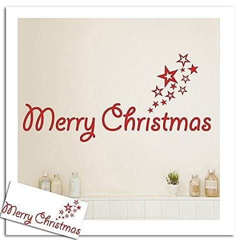 Joyeux Noël cadeaux de couronnes murales autocollants de fenêtre Stickers XMAS Accueil Boutique Décor