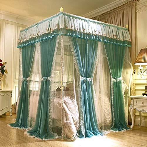 YFQ Moskitonetz Bettdecke Mückenschutz Zelt Bettwäsche Elegante Spitze Krippe Moskitonetz Baldachin Bett Markise Vorhang Schlafzimmer Dekoration Sommer Wesentlich (Size : 180x220m Bed) -