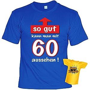T-Shirt zum 60.Geburtstag + Minishirt Geschenk 60 Set : So gut kann man mit 60 aussehen ! -- Set Goodman Design® Gr: 4XL Farbe: royal-blau