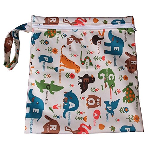 baby-waterproof-zipper-bag-washable-reusable-baby-cloth-diaper-bag-w-animals-and-flowers-pattern-bei