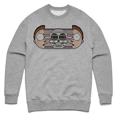 Morty insane design Unisex Sweater Grau