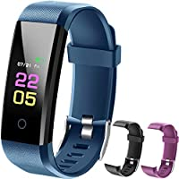 Fitness Trackers-kids Fitness Tracker Watch With Heart Rate Monitor, Activity Trackers With Blood Pressure Monitor, Waterproof Pedometer Watch With Sleep Monitor, Step counter Watch For Kids Women Men