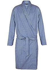 Robe de chambre légère à carreaux 100% coton - Homme