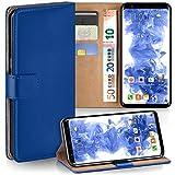 moex Samsung Galaxy S8   Hülle Blau mit Karten-Fach 360° Book Klapp-Hülle Handytasche Kunst-Leder Handyhülle für Samsung Galaxy S8 Case Flip Cover Schutzhülle Tasche