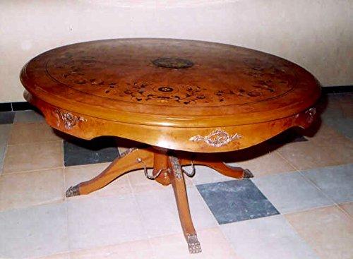 LouisXV Barock Tisch Rund Antik Stil Rokoko MoAl0191 Antik Stil Massivholz. Replizierte...