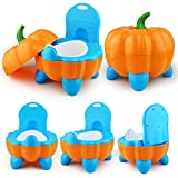 Toilettentrainer im Kürbis-Design | Kinder/Baby Toilette (orange/blau)