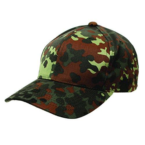 Einsatz Cap mit Klett Schirmmütze Flecktarn BW Outdoor Jagd