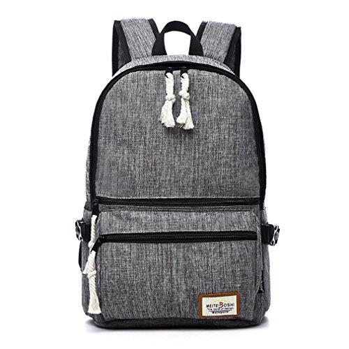 F@Koreanische Version des Rucksacks, Freizeitrucksack, Segeltuchschulterbeutel, Reisetasche Sport, Junior High School Schüler Schulranzen gray