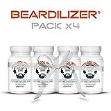 Beardilizer® - 1er Accélérateur de Pousse de Barbe (Pack x4) - 360 Capsules