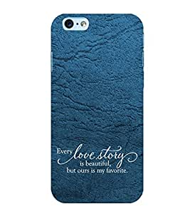 PrintVisa Designer Back Case Cover for Apple iPhone 6 (Soulmates Quote)