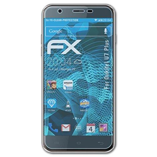 atFolix Schutzfolie kompatibel mit Oukitel U7 Plus Folie, ultraklare FX Bildschirmschutzfolie (3X)