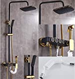 Duschsets von Kupfermischer Ventilmischer Booster Dusche Düse ( Farbe : Schwarz , größe : B )