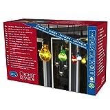 Konstsmide 2399-500 LED Biergartenlichterketten System Erweiterung: Lichterkette/für Außen (IP44) / 10 bunte Birnen / 80 warm weiße Dioden/schwarzes Kabel