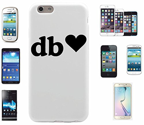 Smartphone Case DB Cuore Bee per Apple Iphone 4/4S, 5/5S, 5 C, 6/6S, 7 & Samsung Galaxy S4, S5, S6, S6 Edge, S7, S7 Edge Huawei HTC Social Tutorial Hashtag