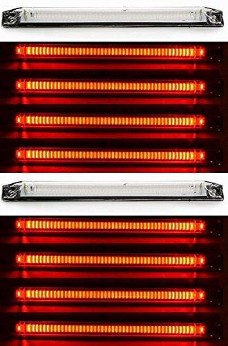 10x lunghezza posteriore rosso contorno perimetro lampada LED luci di posizione laterali 12V 24V camion caravan Chassis