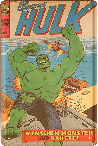 Der gewaltige Hulk Hero Held Comic Figur 20x30 cm Blechschild 1607 (Hulk Helden)