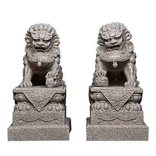Grandes Leones Beijing Par Fu Foo Perros Estatuas