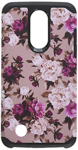 HRWireless Handy Case für LG Aristo-Romantische Rosa Weiß Rosen Floral