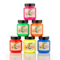 Artcraft Premium Neon Fabric Paints 6 x 60ml
