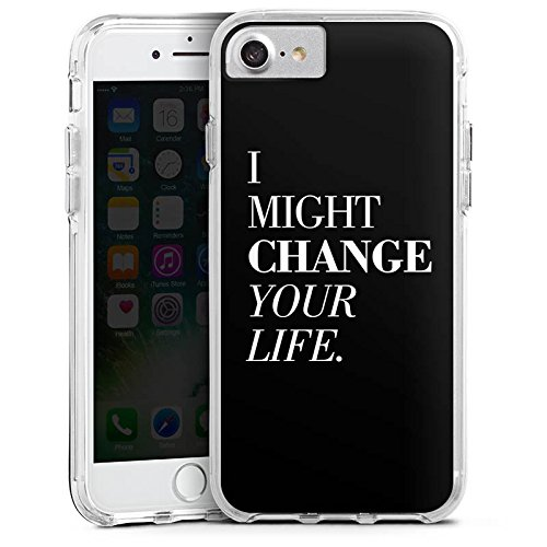 Apple iPhone 6 Bumper Hülle Bumper Case Glitzer Hülle Sayings Phrases Sprüche Bumper Case transparent