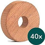 40x Zedernholz Ringe gegen Kleidermotten, Bio Mottenschutz für Kleiderschrank