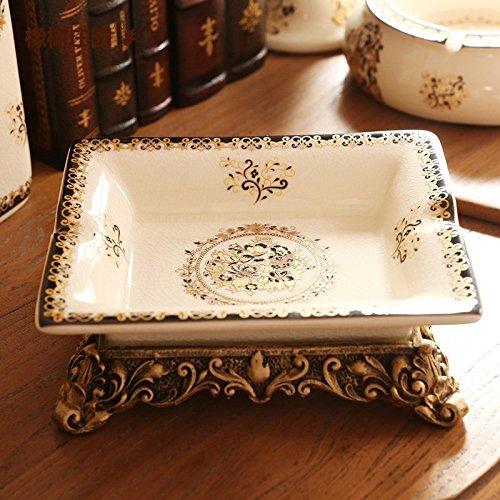 In stile europeo, ornamenti posacenere in ceramica camera modello di casa tavolino soprammobili