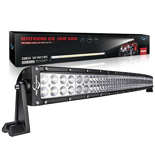Mictuning Lichtbalken 56/81/107/127cm, 120/180/240/288W CREE LED Strahler-Flutlicht-Kombination, Lichtleiste, Offroad-Lampe mit 3,7 m Kippschalter-Verkabelungsset