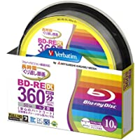 Verbatim Blu-Ray BD-RE DL - Dual Layer Rewritable 50GB 2x Speed - 10 Pack Spindle - Printable, [Importado de UK]