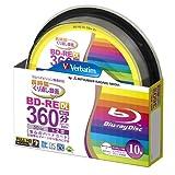 Verbatim Blu-Ray BD-RE Dual Layer (wiederbeschreibbar, bedruckbar, 50 GB, 2-fache Geschwindigkeit) 10er-Spindel
