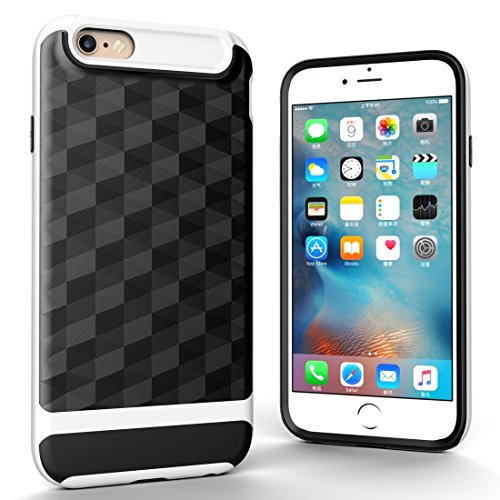 Wkae 3D Diamond PC + TPU Kombination Schutzhülle für iPhone 6s ( Color : Black ) White