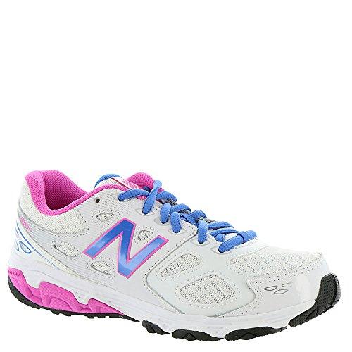 New Balance Kids 680 V3 Running Shoe White/Blue/Pink