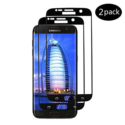 [Lot de 2] Verre Trempé pour Samsung Galaxy S7, Automne Protection d'écran Protecteur Vitre [Anti Rayures] [Sans Bulles D'air] [Ultra Résistant Dureté 9H] Glass Screen Protector pour Samsung S7(Noir)