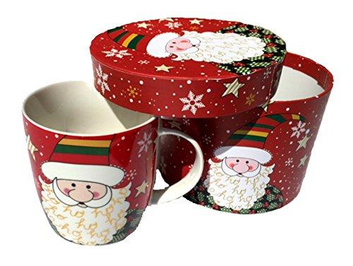 Weihnachten Tassen,-New Bone China Tassen, mit Geschenk-Box 12oz (Mehrere Thema) Weihnachtsmann - Bone China-box