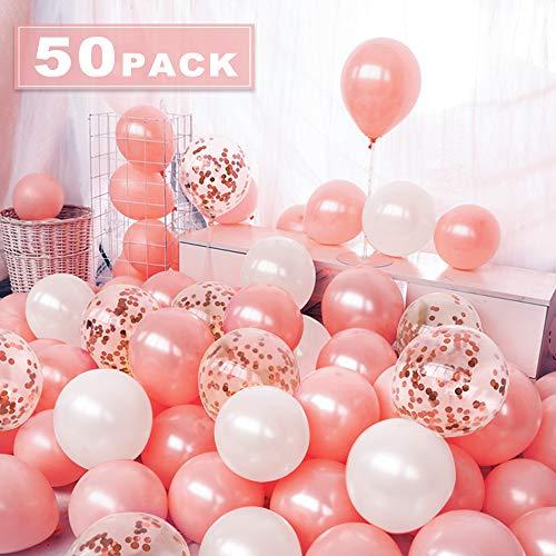 Nasharia 50 Stück Luftballons Ro...