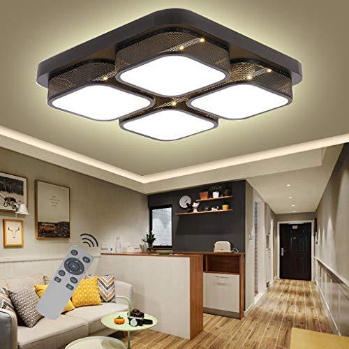 COOSNUG 48W Dimmbar LED Deckenleuchte Modern Deckenlampe Flur Wohnzimmer Lampe Schlafzimmer Küche Energie Sparen Licht Wandleuchte [Energieklasse A++]