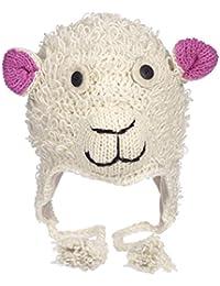 divertente pecora ARTIGIANALE INVERNO LANA ANIMALE Cappello con fodera in  pile 84f215858da4