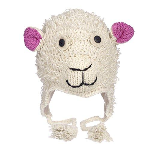 Divertente pecora artigianale inverno lana animale cappello con fodera in pile, unisex