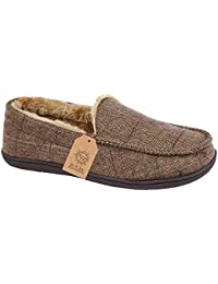 Hombre GEORGE 11-12 Mule Slip on Slippers Fleece Lined Talla L 11-12 GEORGE 89a6be