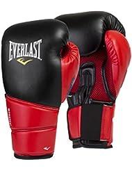 Everlast Protex 2 Evergel Training Guantes, Hombre, Negro /Rojo, L/XL