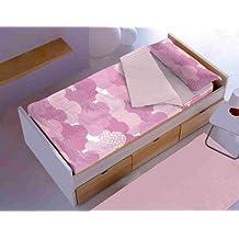 Saco nórdico CON relleno NUBES ROSA para cama 90 x 190 / 200 + 1 funda