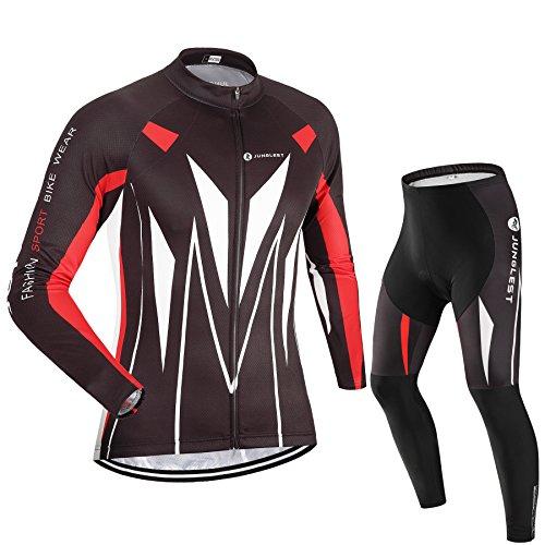 Maillot de Cyclisme Homme Manches Longues jersey(S~5XL,option:Cuissard,3D Coussin) N51