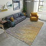 LZHDAR Moderne Einfache Wohnzimmer Teppich, Polyester Teppich bäder türen böden tische Schlafzimmer Wohnzimmer Antistatisch 160 * 230 cm,BlueA,60 * 90cm