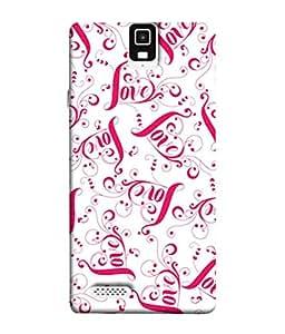 PrintVisa Designer Back Case Cover for Infocus M330 (Love Background Pattern Lettering Swirl Seamless Beautiful Ornamental)
